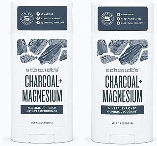Schmidts Deodorant Charcoal  Magnesium Deodorant 3.25 Once (2 Pack)