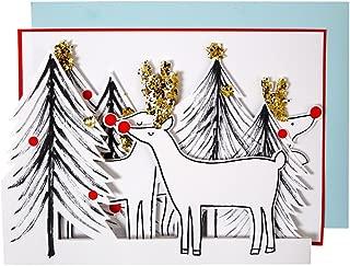 Meri Meri Reindeer & Tree Concertina Christmas Card