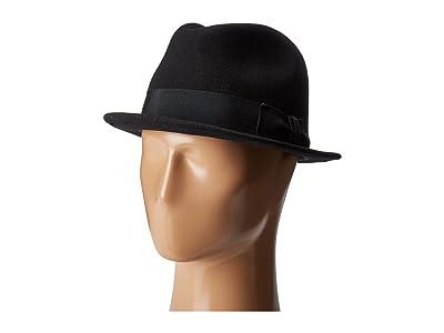 Country Gentleman Floyd Traditional Wool Fedora Hat (Black) Caps