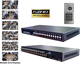 CCTV Camera Pros VM-HD16 16ch HD CCTV Multiplexer | Analog AHD HDCVI HD-TVI Video Processor | BNC VGA HDMI Output