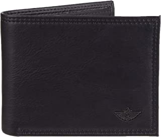 Men's Leather Bifold Wallet - RFID Blocking Classic Single Fold with Extra Card Slots and ID Window