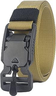 (2 Packs) Longwu Super Magnetic Buckle Quick-Release Nylon Canvas Military Belt