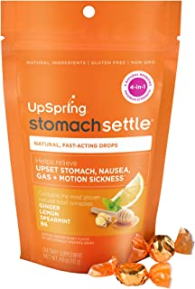 UpSpring Stomach Settle Drops for Nausea, Gas, Bloating, Morning Sickness and Motion..