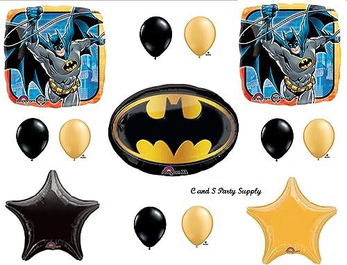 Bathomme Emblem Birthday Party Mylar Balloon Decorations Supplies by Anagram