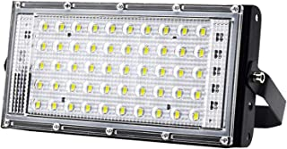 Perfk 50W Super Bright Security Lamp IP66 Waterproof LED Floodlight Outdoor Spotlight 220V - Red Light