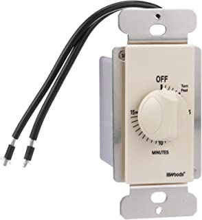Woods 59712 In-Wall 15 Minute Spring Wound Timer, Light Almond
