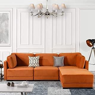 Best orange velvet sectional Reviews