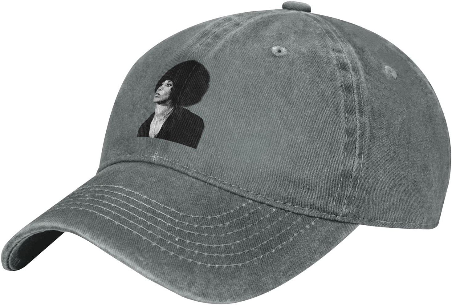 Pcaocmro Angela Davis Cowboy Hat Unisex Adjustable Hat Circumference Size Pure Cotton Denim Wash Water Outdoor