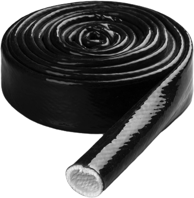 Heat Wrap, Matting & Sleeving Automotive 10mm X 1-Ft Black Heat ...