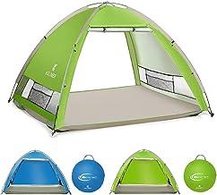SGODDE بزرگ پاپ آپ چادرهای ساحلی پناهگاه آفتاب برای 4-5 نفر در سال 2020 جدید UPF 50 ضد اشعه ماورا بنفش چادر سایبان سایبان ، چادر قابل حمل اتوماتیک فوری آسان در فضای باز برای کودک ، خانواده ، بزرگسالان ، ماهیگیری