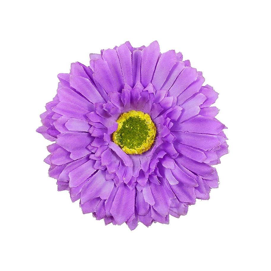 ラジエータースキー悲しいコサージュ 紫 コサージュ ガーベラ 髪飾り 2way ヘッドドレス fhsc19148pe