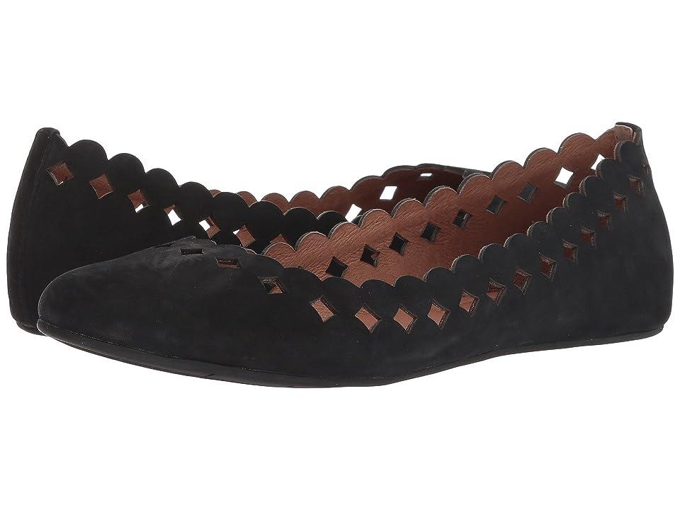 4ecb7c3300b Sudini Simmi (Black Kid Suede) Women s Dress Flat Shoes