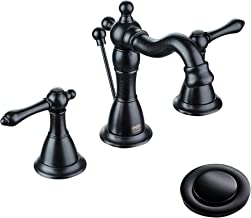 ENZO RODI Bathroom Faucet, Classical Style Two-handle Widespread Bathroom Sink Faucet with Lift Pop Up Drain Assembly, Oil Rubbed Bronze, Certified by UPC,AB 1953 Lead-Free, NSF Standrard, ERF2311344H