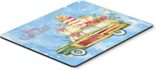 Caroline's Treasures CK2408MP Merry Christmas Vizsla Mouse Pad, Hot Pad or Trivet, Large, Multicolor