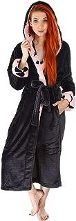 Women's Plush Kimono Bathrobe with Pockets