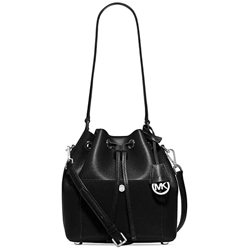 9156fd57b79e MICHAEL Michael Kors Greenwich Medium Bucket Bag (Black)