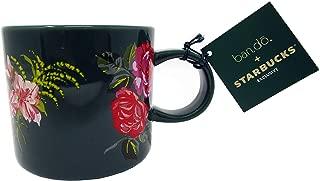 Starbucks Ban.do Holiday 2018 Ceramic 12 Oz Floral Mug Green