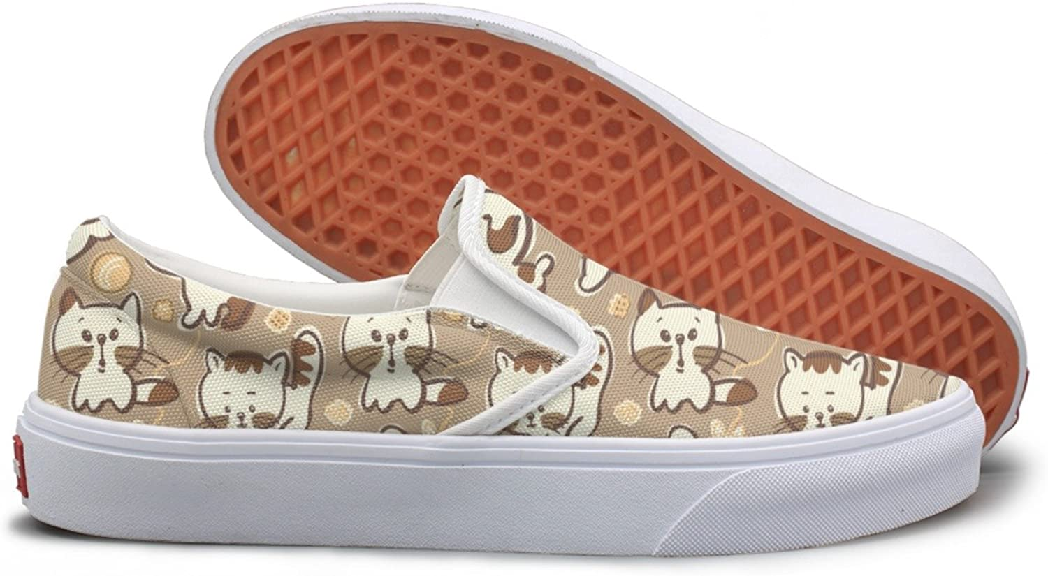 Cute Puppies And Kittens Casual Sneakers For Women Wide Width