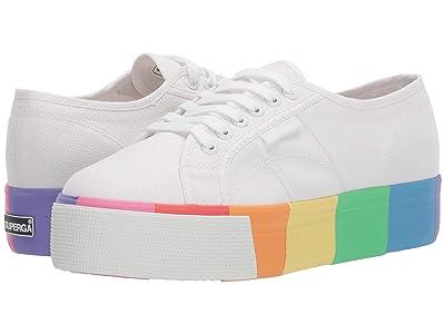 Superga 2790 Cotmultifoxing W Platform Sneaker (White/Multi) Women