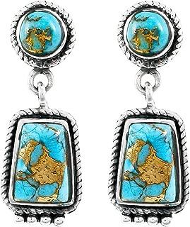 Best navajo green turquoise earrings Reviews