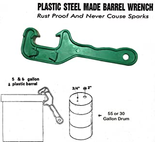 Bucket Lid Wrench - Open / Lift Lids on 5 Gallon Plastic Buckets & Small Pails - Green - Durable Plastic Opener Tool