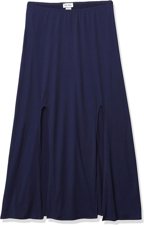 Star Vixen Women's Modest Soft Knit Pull-on Midi-Length Skirt