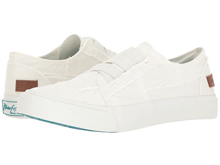 Blowfish  Marley (White Color Washed Canvas) Womens Flat Shoes