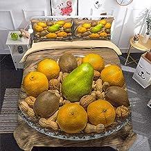 3D Parure de Lit Housse de Couette Doux Confortable Literie De Lit et Taies d'oreiller Housse de Couette imprimé 3D -Fruit...