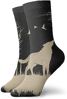 Novedad Divertido Crazy Crew Sock Wolf en The Strange Forest Impreso Sport Calcetines deportivos 30cm de largo Calcetines personalizados de regalo