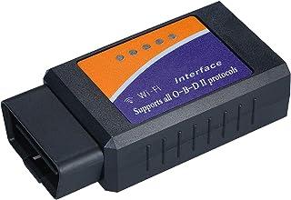 أداة مسح ضوئي للسيارة تعمل بتقنية واي فاي او بي دي 2 لفحص المحرك والكشافات متوافقة مع أنظمة اي او اس واندرويد