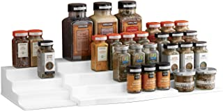 YouCopia Expandable ShelfSteps 4-Tier Spice Shelf Cabinet Organizer, Set, White