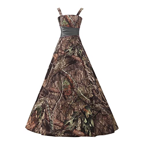 83613030d4562 Belle Lady Long Bridesmaid Dress CAMO Evening Prom Dress Army Party Dress  GS66