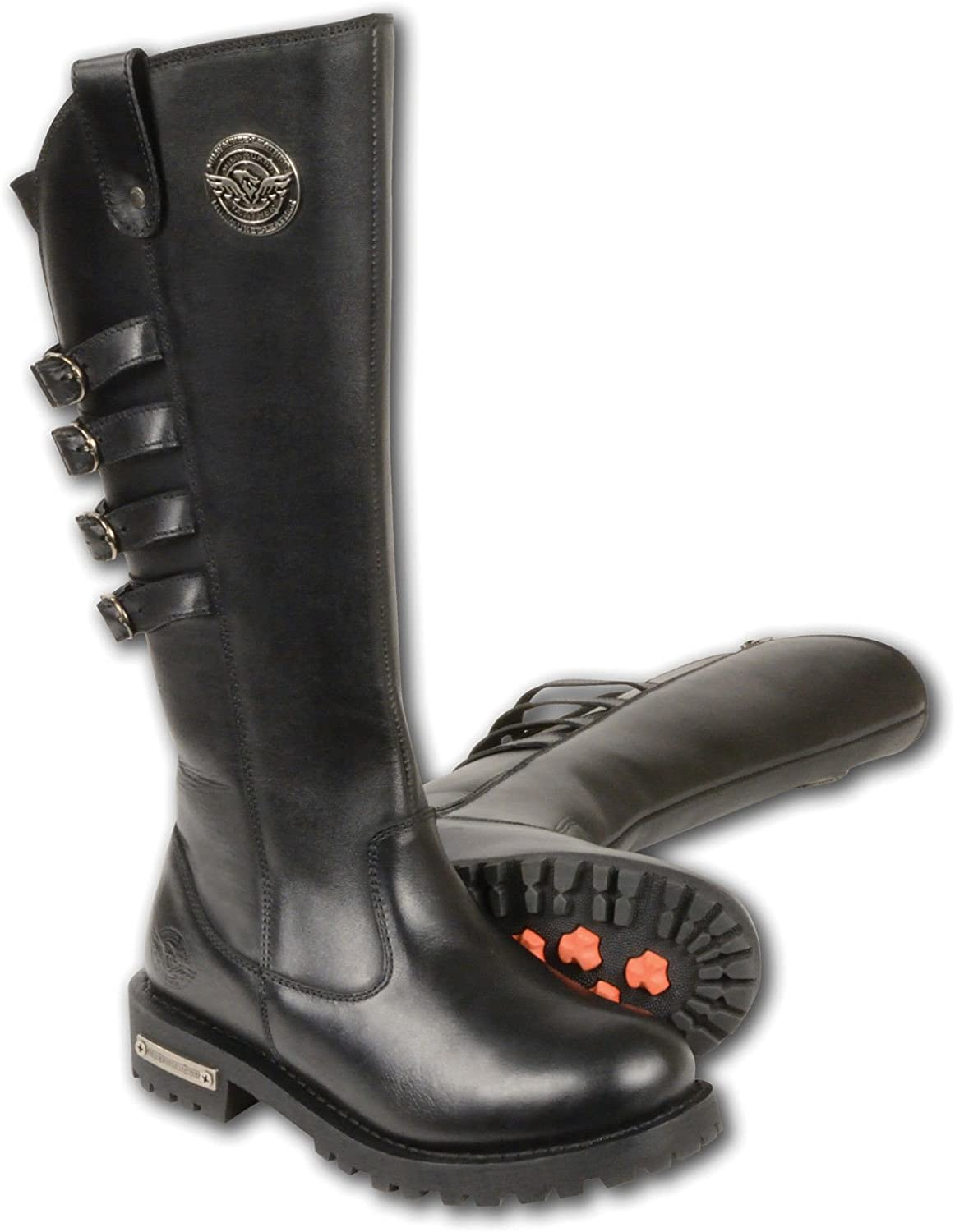 Milwaukee Leather Women's 15  High Rise Riding Boot Round Toe Black 8