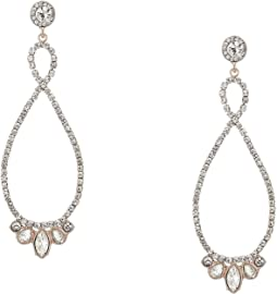 Stone Loop Drop Earrings Crystal