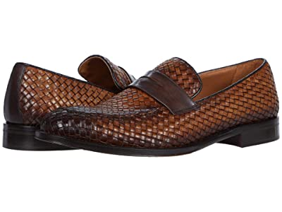 Bruno Magli Arezzo Woven (Cognac/Dark Brown) Men