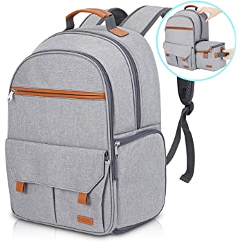 """Endurax Waterproof Camera Backpack for Women and Men Fits 15.6"""" Laptop with Build-in DSLR Shoulder Photographer Bag (Gray)"""