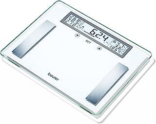 Beurer BG 51 XXL - Báscula de baño diagnóstica, gran plataforma 39 x 30 cm, memoria para 10 usuarios, color blanco