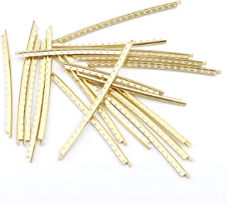Swhmc Guitar Fret Wires 20Pcs Set 2.0mm Width Copper Bass Fingerboard Gold Tone for Classical Acoustic Guitars Gold