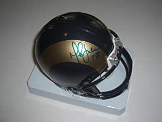 Marshall Faulk Signed Mini Helmet - Hof - PSA/DNA Certified - Autographed NFL Mini Helmets