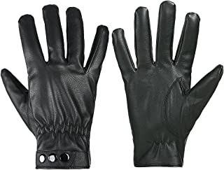 GLOUE Men's Gloves Waterproof Touchscreen Thick Gloves Keep Warm in Winter Outdoor Black
