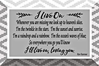 I Live On Glass Plaque with Inspiring Quotes 4