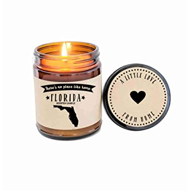 Florida Candle Scented Candle State Candle Gift No Place Like Home Thinking of You Holiday Gift Christmas Gift