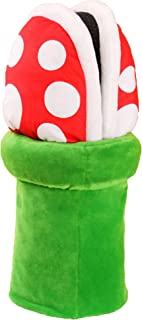 Lopbraa Piranha Plants Cannibal Flower Style Plush Slippers Loafer with Pipe Pot Holder for Adults Teens (Piranha Plants)