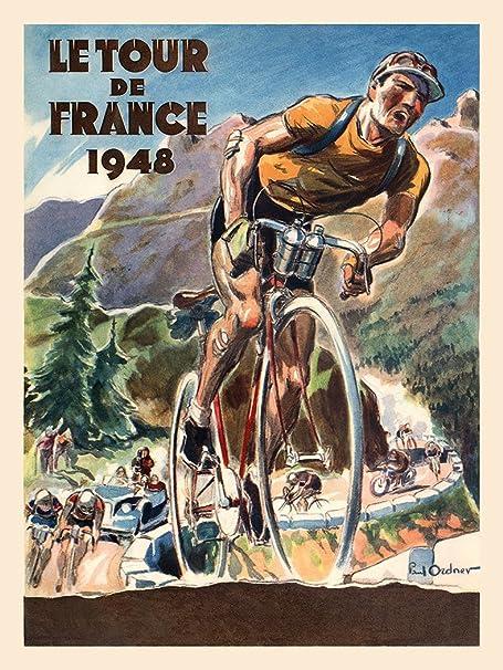 1951 Tour de France Vintage Bicycle Poster Print Cycling