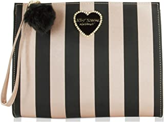 Betsey Johnson T-Bottom Wristlet Cosmetic Case Pouch Accessory Evening Clutch