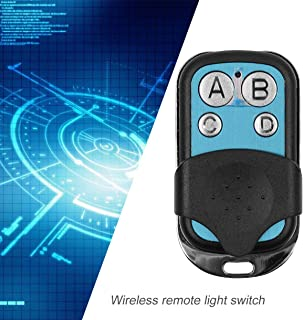 Universal 4 Channel Wireless Remote Control Copy 433MHz RF Key Switch Fob Controller for Electric Gate Garage Door