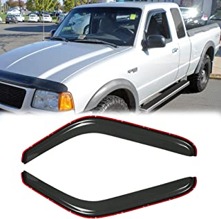 D/&O MOTOR 2pcs in-Channel Front Doors Smoke Sun//Rain Guard Wind Deflector Tape-On Window Visors for 93-11 Ford Ranger 94-10 Mazda B2300//B2500//B3000//B4000 Regular /& Extended Cab