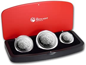 AU 2012 Australia 3-Coin Silver Year of the Dragon Proof Set Brilliant Uncirculated