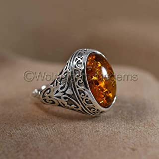Baltic Amber Gemstone Mens Jewelry, Baltic Amber Gemstone Ring, Antique Designer Ring, Silver Signet Jewelry, Men's Silver Ring, Baltic Stone Silver Ring, Elegant Ring, Gift For Brothers Birthday
