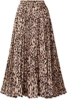 Womens Chic Elastic High Waisted A Line Leopard Print...